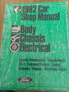 1982 Ford Mustang Capri Thunderbird Continental Factory Service Shop Manual