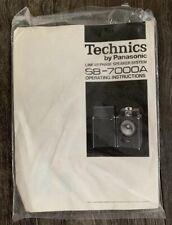 Technics SB-7000A Speakers Original Owners Manual - With 2 Original New Fuses