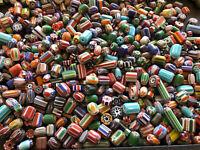 1/4 LB Ethnic Glass Unique Beads CHEVRON Quality Mix jewelry supplies