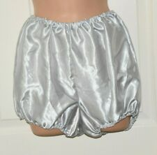 "FIeb  -  Big satin panties / bloomers, BN, waist to 36"", Silver"