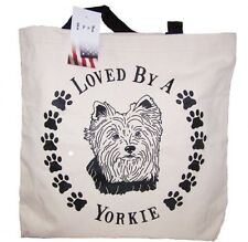 Loved By A Yorkie Tote Bag New Made In Usa