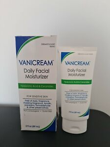 Vanicream Daily Facial Moisturizer 3oz (89ml) With Hyaluronic Acid And Ceramides