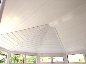 Conservatory roof insulation  with cladding or plastered finish