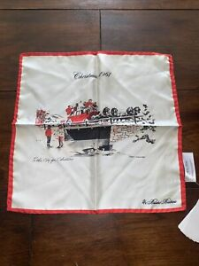 Brooks Brothers Silk Pocket Square/ Scarf LIMITED EDITION RRP £65 Christmas 1961