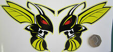 Honda Hornet Bees Stickers decals 150 microns thick toolbox helmet 115 x 105mm