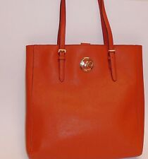NEW MICHAEL KORS JET SET TRAVEL BURNT ORANGE SAFFIANO LEATHER TOTE,HAND BAG