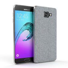 Schutz Hülle für Samsung Galaxy A5 (2016) Glitzer Cover Handy Case Silber