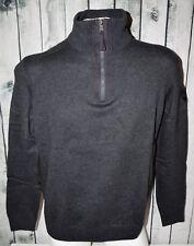Marvelis Pulli Pullover Troyer Gr. L/52 100% Baumwolle dunkelgrau anthrazit