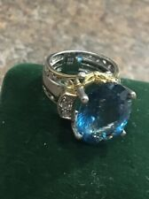 michael valitutti London Blue Topaz W/clear Topaz Accents Ring Sz4