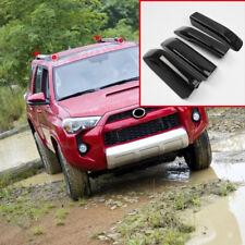 Black Roof Rails Rack End Cover Shell 4pcs For Toyota 4Runner N280 2010-2018