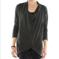 lucy Women's Size M Medium Uplifting Wrap Top in Dark Gray