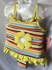 XOXO Girls Stripes And Appliqué Flower Tankini Swimsuit Size 5 MSRP $34- New