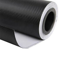 "12""x50"" 3D Black Carbon Fiber Vinyl Car Wrap Sheet Roll Film Sticker Deca PM"