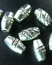 50PCS Tibetan Silver Screw Carved Barrel Spacer Beads R88