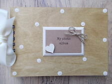 PERSONALISED MY PHOTO ALBUM WOODEN SCRAPBOOK/PHOTO BOOK /MEMORIES