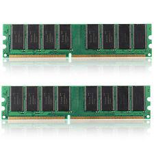 2GB 2x1GB PC 2700 184 PIN DDR 333 MHZ DESKTOP DIMM MEMORY RAM FIT AMD & Intel