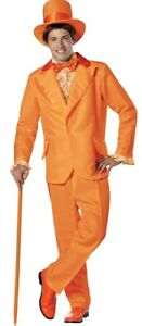 Dumb and Dumber Lloyd Orange Tuxedo Costume Mens Halloween Goofball