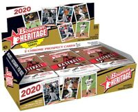 2020 BOWMAN HERITAGE BASEBALL SEALED HOBBY BOX IN HAND LOT OF 3