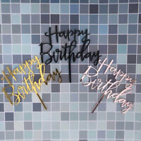 Wedding Decoration Happy Birthday Cake Topper Acrylic Decor Party Supplies