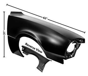 70-76 Ford Maverick Front Fender Without Side Lamp Hole DynaCorn RH
