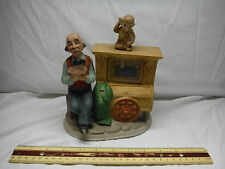 """Vintage Watch It Play Organ Grinder Moving Monkey """"Fiddler On Roof"""" Music Box"""