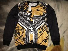 Versace Sweater Lion Design 100% Authentic *NEW* 2XL XXL (Fits like XL) Slim Fit