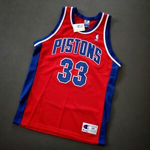 100% Authentic Grant Hill Vintage Champion Pistons Jersey Size 44 M L Mens