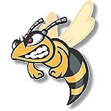 Vinyl sticker/decal Medium 120mm angry hornet - facing left