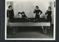 4 LOVELY GIRLS PLAY BILLIARDS - LYN BARI - 1936 KEY BOOK PHOTO - SHOOTING POOL