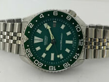SEIKO DIVER 7002-7020 STUNNING GREEN FACE MOD AUTOMATIC MENS WATCH SN. 473882