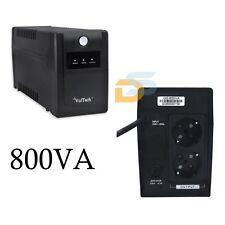 UPS 800VA GRUPPO DI CONTINUITA' PER PC 800 VA 2 INGRESSI SCHUKO UPS ESTERNO