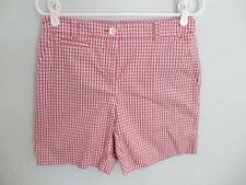 "Jones New York Signature pink check cotton blend shorts 6-1/2"" inseam *Sz 4*"