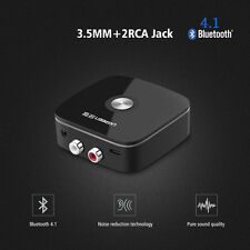 Wireless Car 4.1 Bluetooth Receiver Adapter 3.5mm to 2RCA AUX Audio Adapter