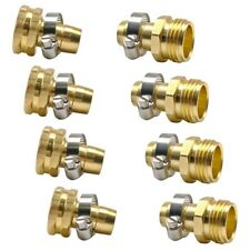 4 Sets Brass 3/4 inch Garden Hose Mender End Repair Male Female Connectors Q7R9