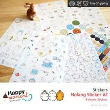 Molang Sticker V2 Stickers Diary Scrapbook Deco Calendar Label Crafts 6 sheets