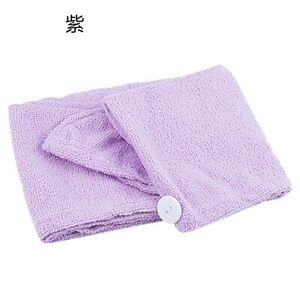 1xLarge Microfiber Quick Dry Towel Hair Magic Drying Turban Wrap Hat Bathing hat