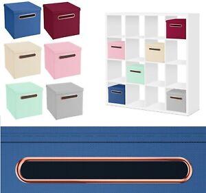 Rosegold Griff Faltbox 32,5 x 32,5 cm Aufbewahrungsbox Spielzeugkiste Kiste Box