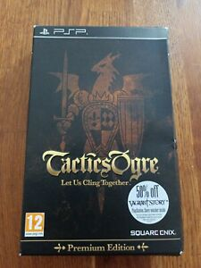 Tactics Ogre Let Us Cling Together Premium Edition Sony PSP Boxed + Cards PAL UK
