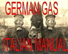 Italian Manual About German Artillery Gas Shells And Fuzes Ww 1