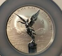 2018 MEXICO SILVER LIBERTAD 5 ONZA NGC REVERSE PF 70 BEAUTIFUL PERFECTION !