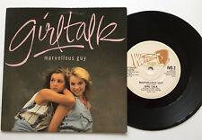"""GIRL TALK - 7""""45 - """"MARVELLOUS GUY / instrumental"""" - 1984 - INNERVISION UK"""