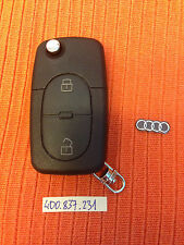 AUDI A3 A4 TT A6 CENTRAL LOCK REMOTE KEY FOB 4DO837231 4D0837231 BLADE CUT FREE