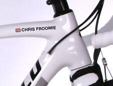 4x personnalisé vélo nom autocollants road cycle cycling frame decals