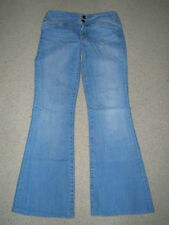JUICY COUTURE THE MILLER DOUBLE BUTTON 100% COTTON FLARE JEANS SIZE 27