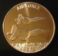 1 OZ COPPER ROUND US AIR FORCE F-22 RAPTOR