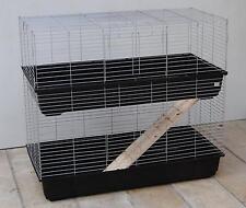 Guinée Cage de porc lapin Cage Double cage 1,2 compteur