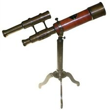 Steam Punk Telescope on Brass Stand with Sights