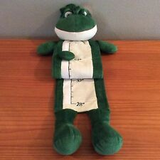 """Plush Frog Childs Growth Chart Height Measurement Ruler With Picture Slots """"New"""""""
