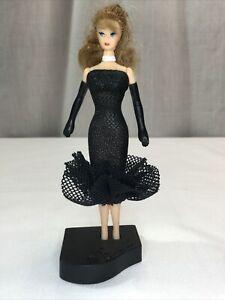 "Vtg. 1999 Mattel McDonald's Happy Meal Toy 4.5"" Mini Barbie w/ Blk Dress Figure"