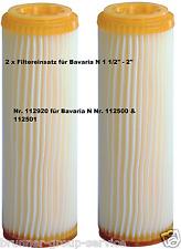 Feinfilter 2 x Nr. 112920  für (Bavaria N)  Nr. 112500 & 112501